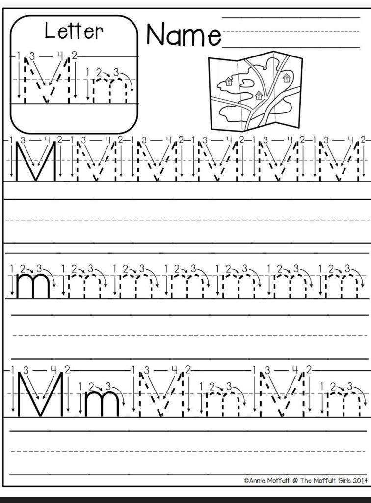 Letter M Worksheet | Kindergarten Abc Worksheets, Alphabet In Letter M Tracing Sheets