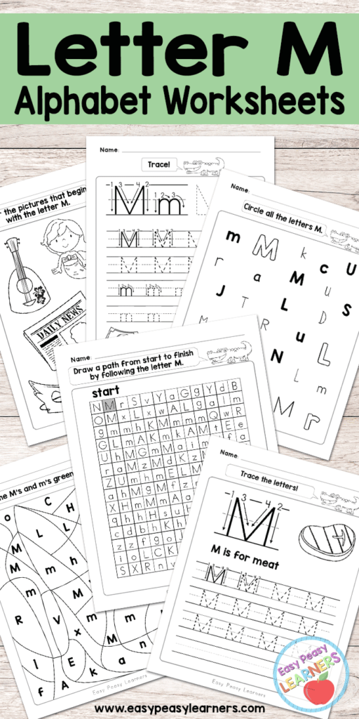 Letter M Worksheets   Alphabet Series   Easy Peasy Learners With Regard To M Letter Worksheets