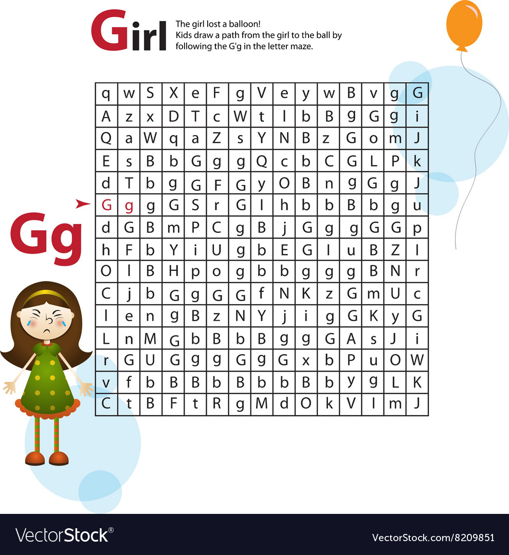 Letter Maze G This Worksheet Helps Kids Recognize with Alphabet Worksheets Maze