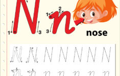Alphabet N Tracing