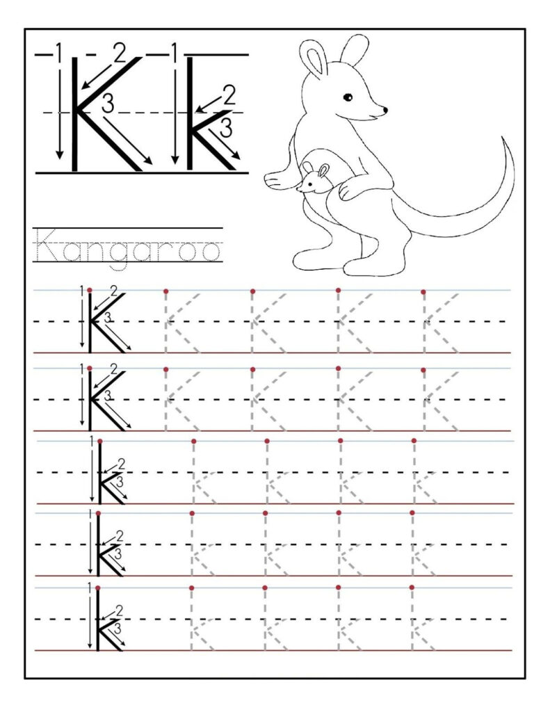 Letter N Worksheets For Preschool And Kindergarten Tracing With Regard To Letter K Worksheets For Toddlers