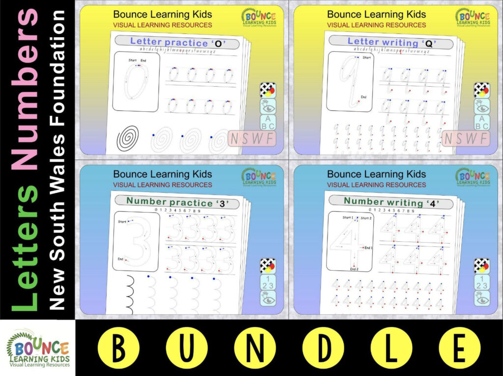 Letter & Number Writing Practice (Nsw Foundation) Inside Alphabet Tracing Nsw Foundation Font