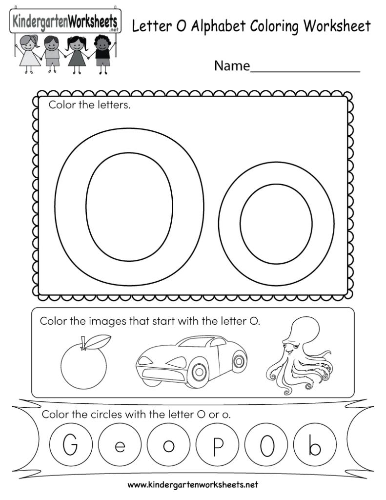 Letter O Coloring Worksheet   Free Kindergarten English Intended For Letter G Worksheets For Kindergarten Pdf