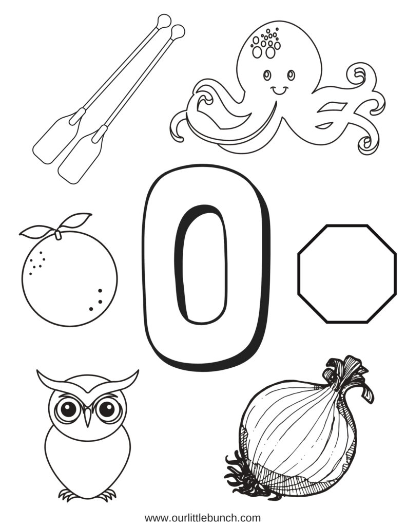 Letter O   Letter Of The Week Series   Our Little Bunch With Letter O Worksheets Pdf