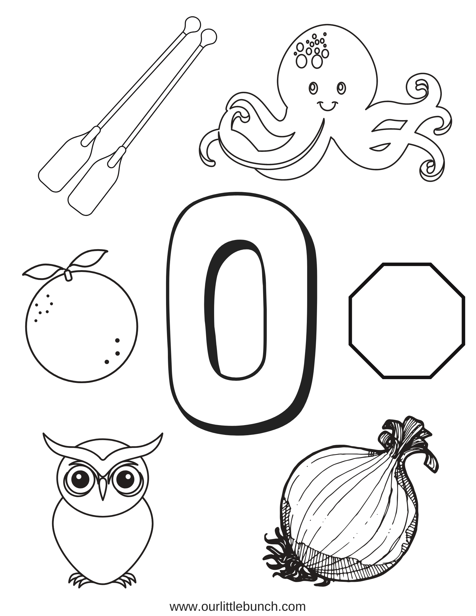 Letter O - Letter Of The Week Series - Our Little Bunch with Letter O Worksheets Pdf