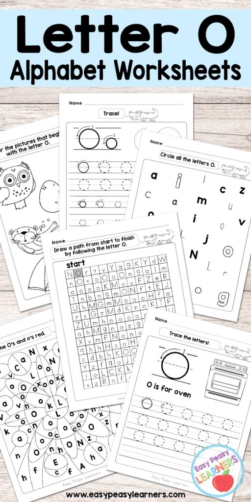 Letter O Worksheets   Alphabet Series   Easy Peasy Learners Regarding Letter O Worksheets Free
