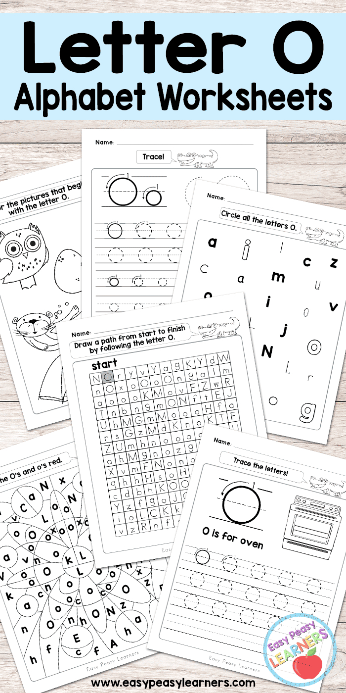 Letter O Worksheets - Alphabet Series - Easy Peasy Learners regarding Letter O Worksheets Free