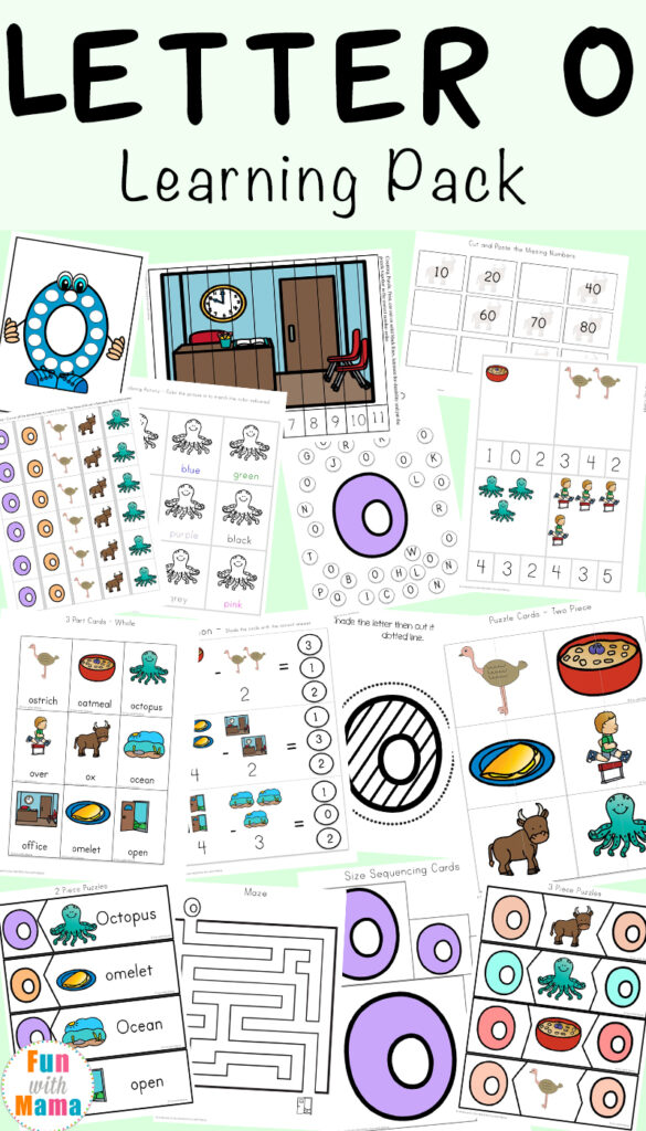 Letter O Worksheets And Activities Pack   Fun With Mama Pertaining To Letter O Worksheets Pdf