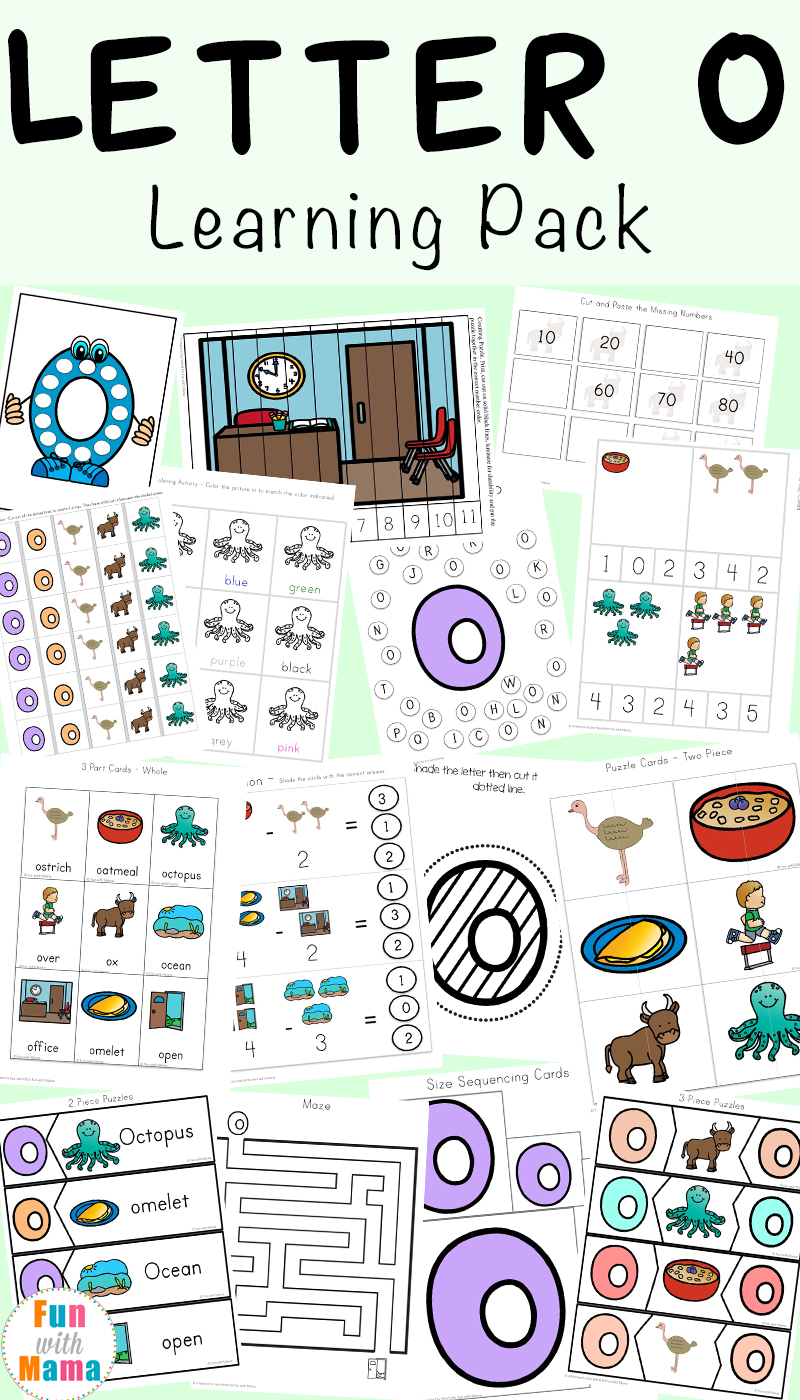 Letter O Worksheets And Activities Pack - Fun With Mama pertaining to Letter O Worksheets Pdf