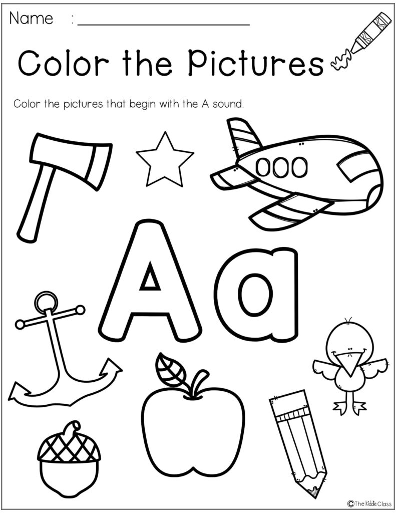 Letter Of The Week A | Kindergarten Morning Work, Phonics For Alphabet Phonics Worksheets For Kindergarten