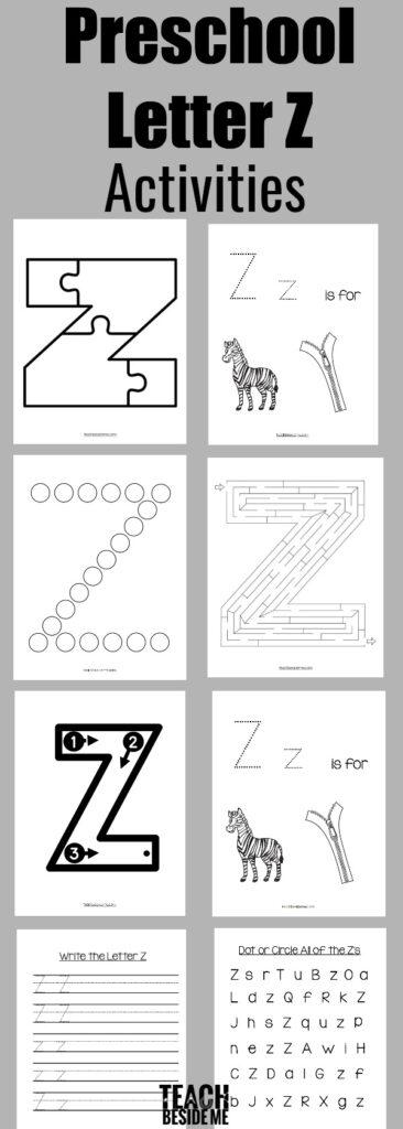 Letter Of The Week: Preschool Letter Z Activities – Teach For Letter Z Worksheets Pre K