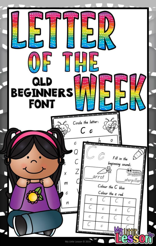 Letter Of The Week Worksheets Qld Beginners Font | Letter Of Inside Queensland Alphabet Tracing
