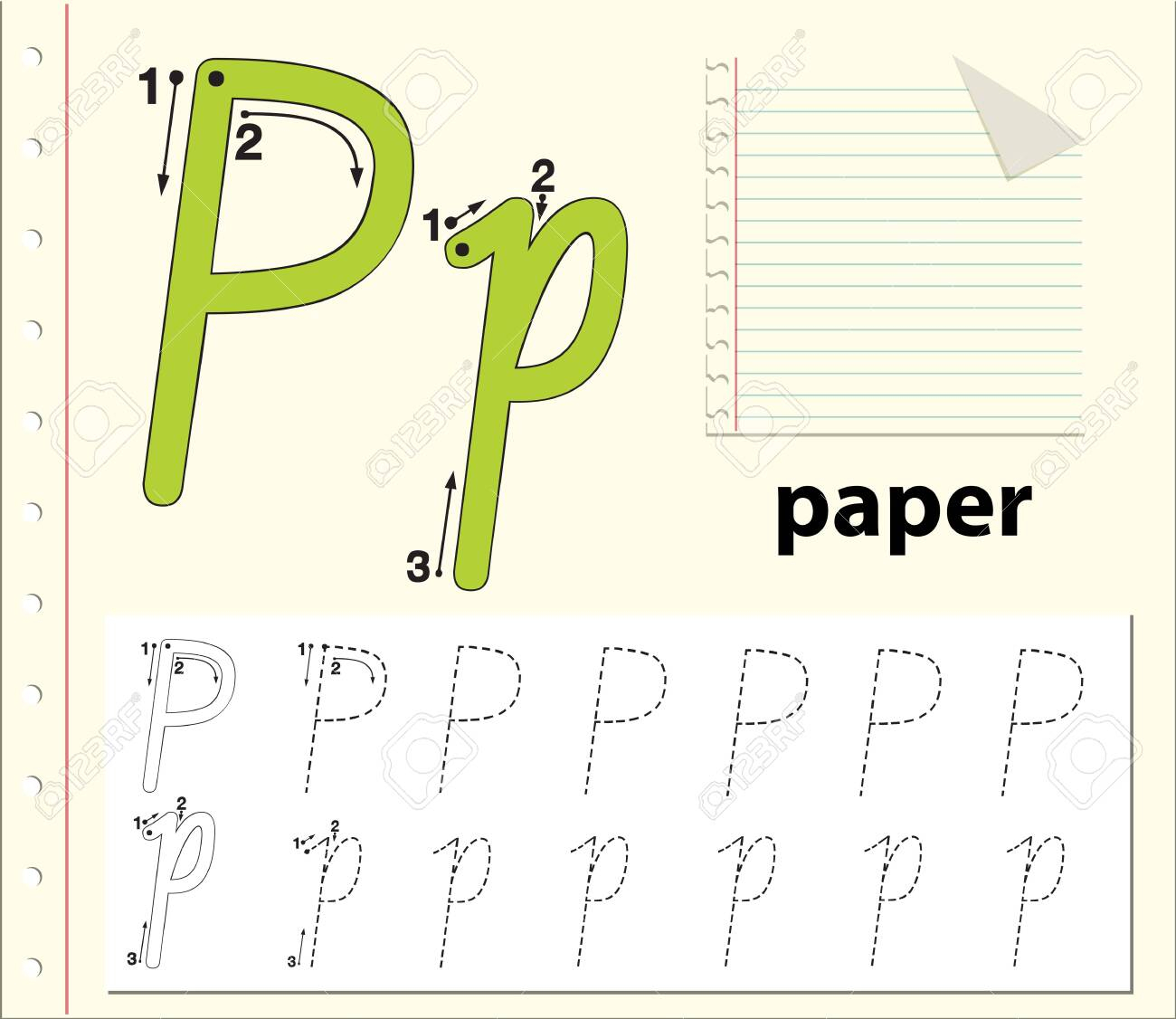 Letter P Tracing Alphabet Worksheets Illustration with Letter P Tracing Paper