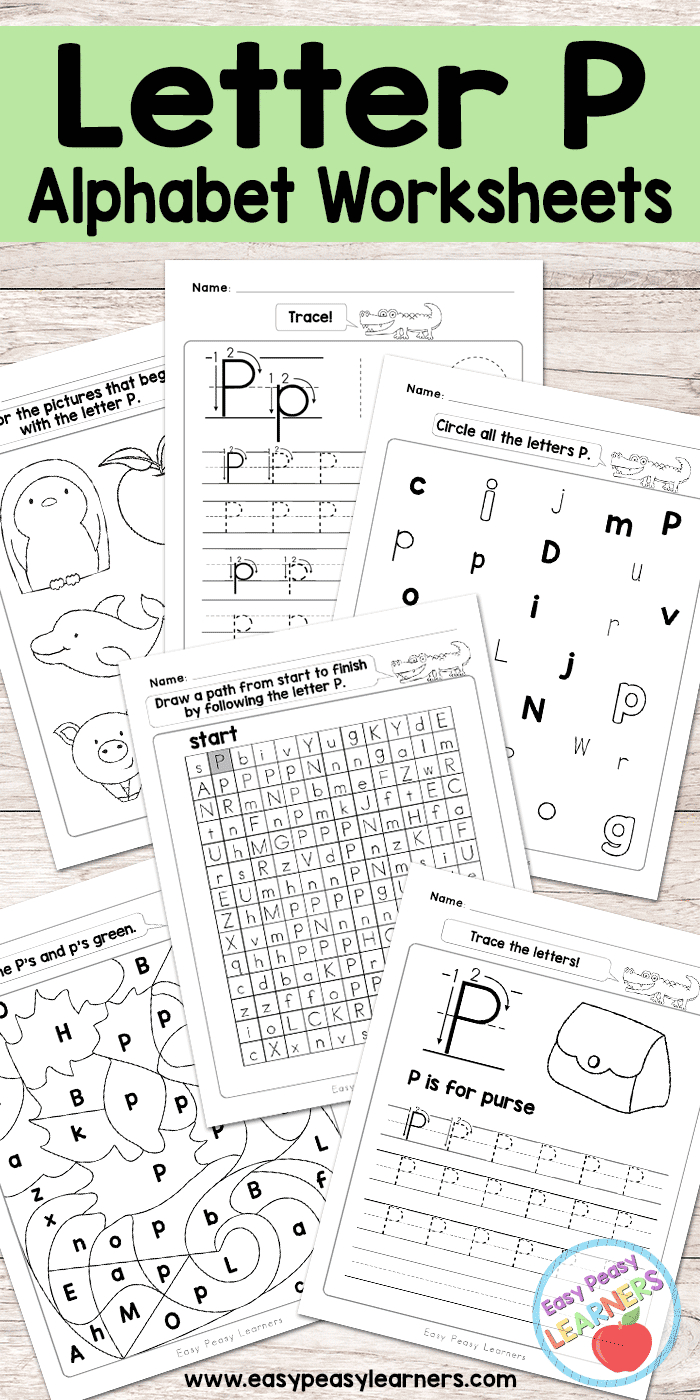 Letter P Worksheets - Alphabet Series - Easy Peasy Learners within Letter P Tracing Paper