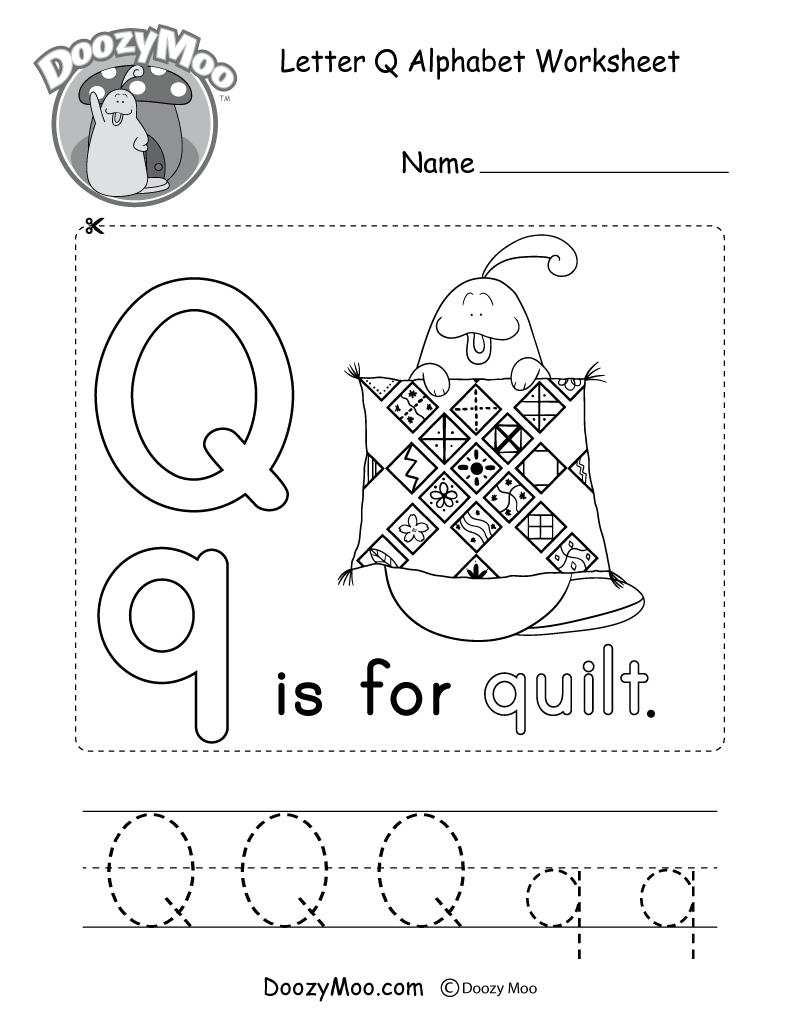 Letter Q Alphabet Activity Worksheet - Doozy Moo with regard to Letter R Worksheets For Kindergarten Pdf