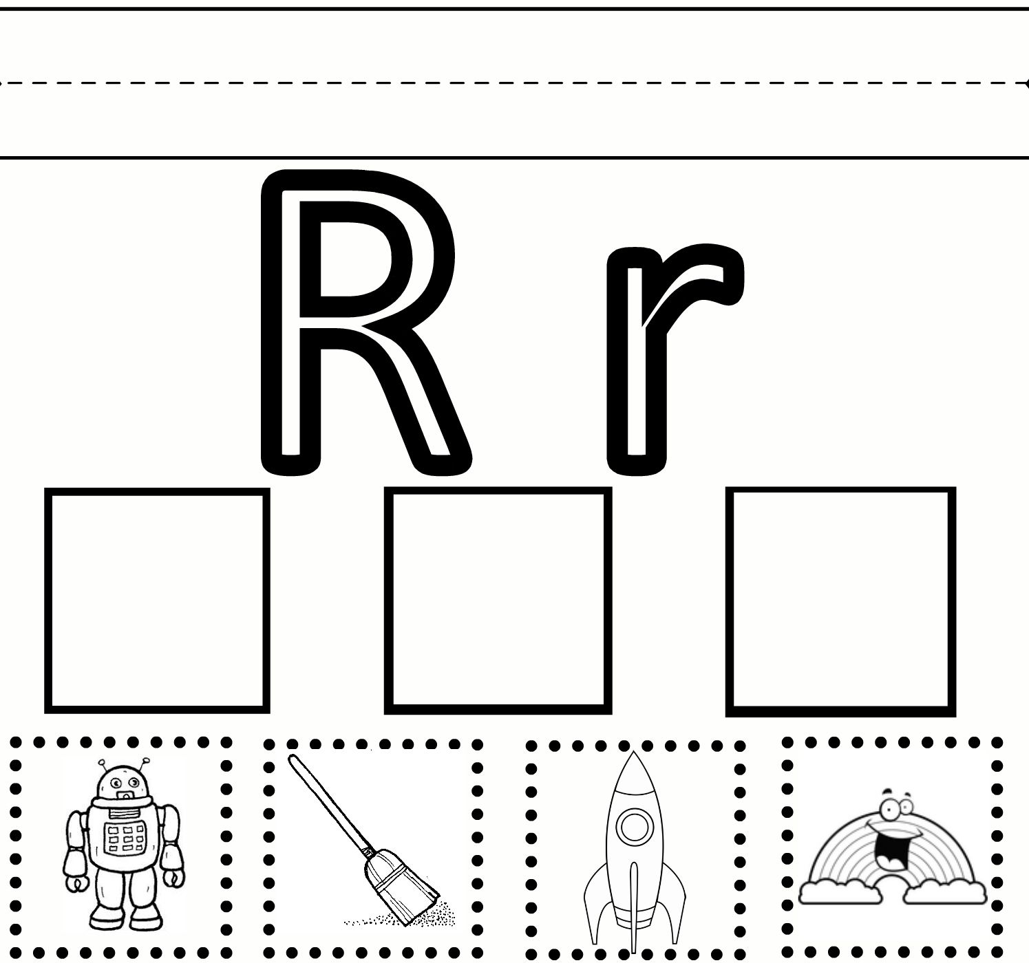Letter R Preschool Worksheets | Preschool Learning – Letter with Grade R Alphabet Worksheets South Africa