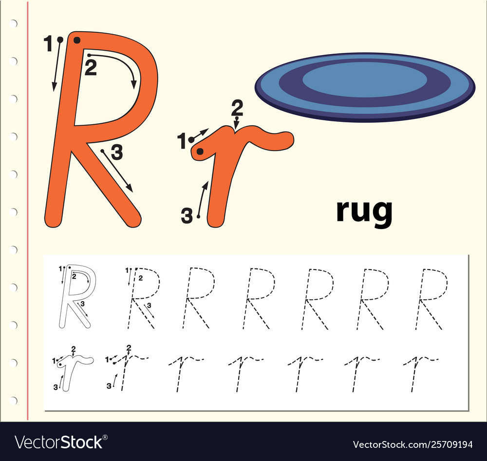 Letter R Tracing Alphabet Worksheets for Alphabet R Tracing