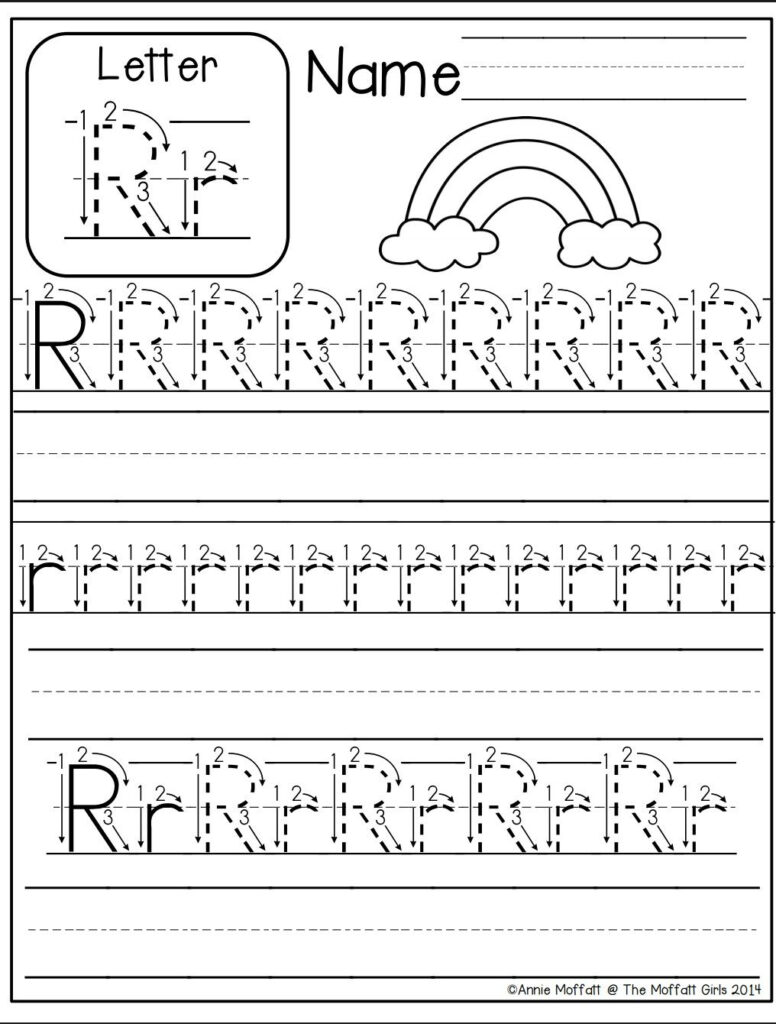 Letter R Worksheet | Alphabet Worksheets Kindergarten In Alphabet R Tracing