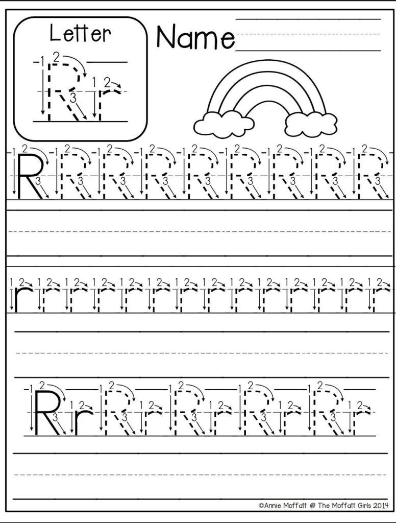 Letter R Worksheet | Alphabet Worksheets Kindergarten In Letter R Tracing Worksheets
