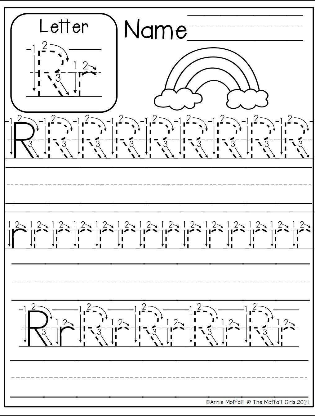 Letter R Worksheet | Alphabet Worksheets Kindergarten pertaining to Letter Tracing R