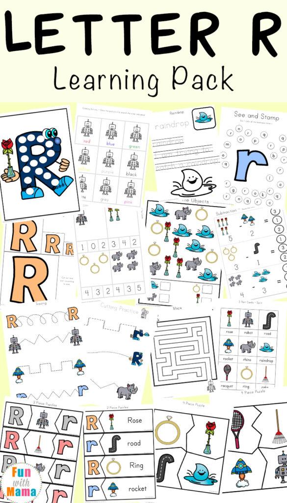 Letter R Worksheets And Printable Preschool Activities Pack Throughout Letter R Worksheets For Kindergarten Pdf