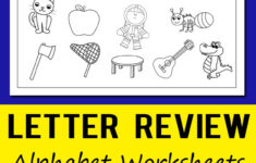 Letter A Worksheets Preschool Free