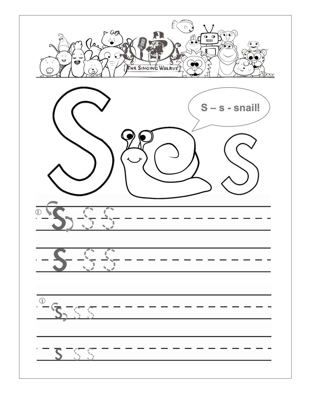 Letter S Worksheets Printable (With Images) | Letter S within Letter S Worksheets Pdf