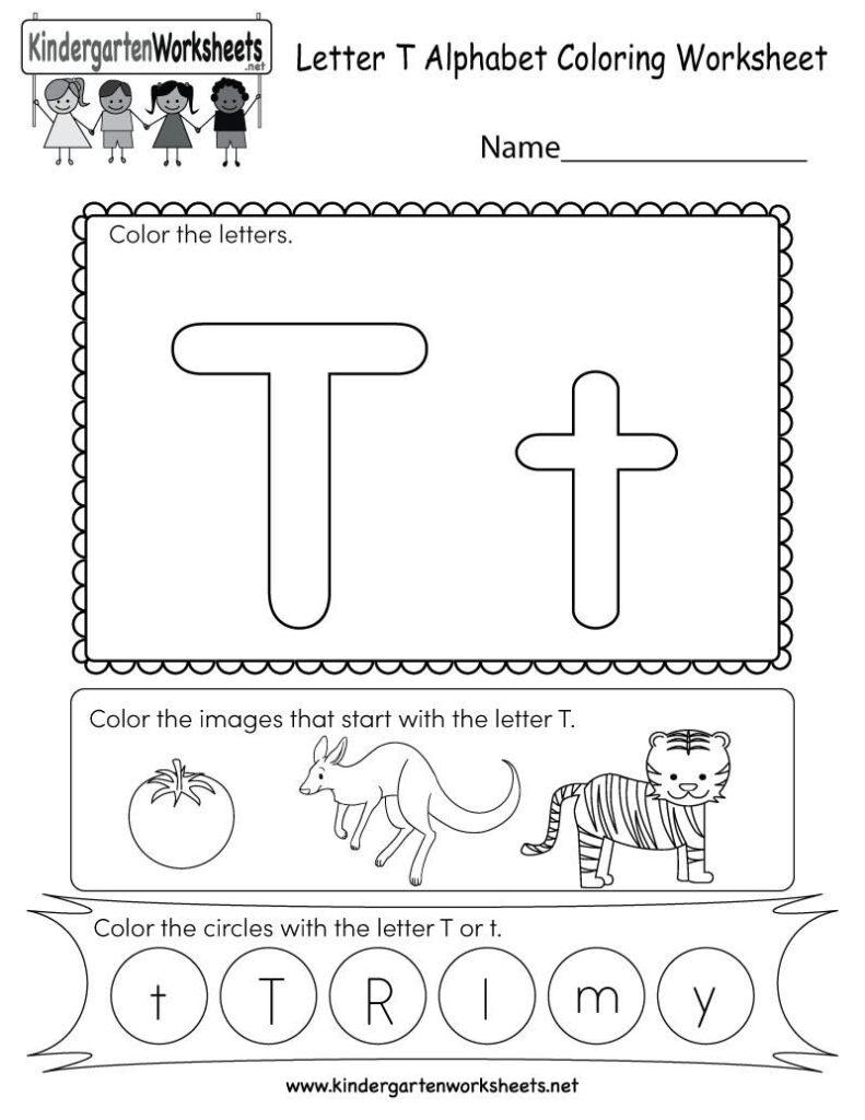 Letter T Printable Worksheets In 2020 | Color Worksheets Inside Letter T Worksheets For Toddlers