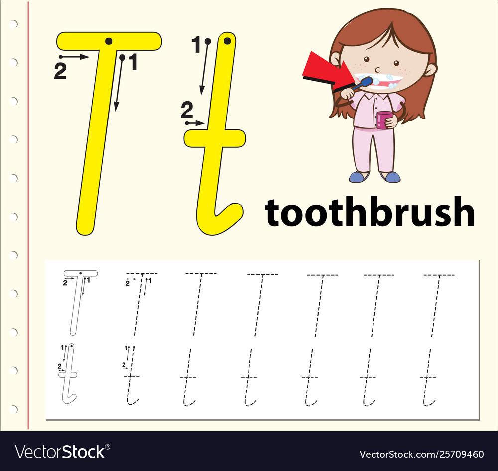 Letter T Tracing Alphabet Worksheets regarding Alphabet T Tracing