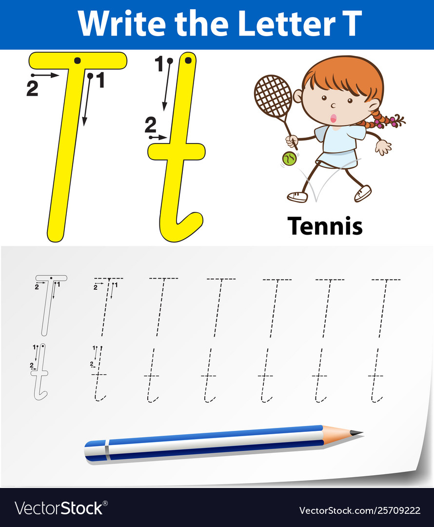 Letter T Tracing Alphabet Worksheets with Alphabet Tracing Tablet