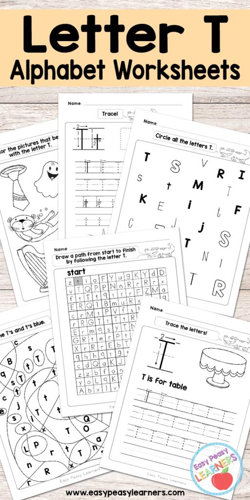 Letter T Worksheets   Alphabet Series   Easy Peasy Learners For Letter T Worksheets Preschool