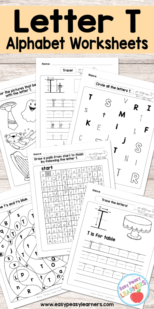 Letter T Worksheets   Alphabet Series   Easy Peasy Learners Pertaining To Letter T Worksheets Free