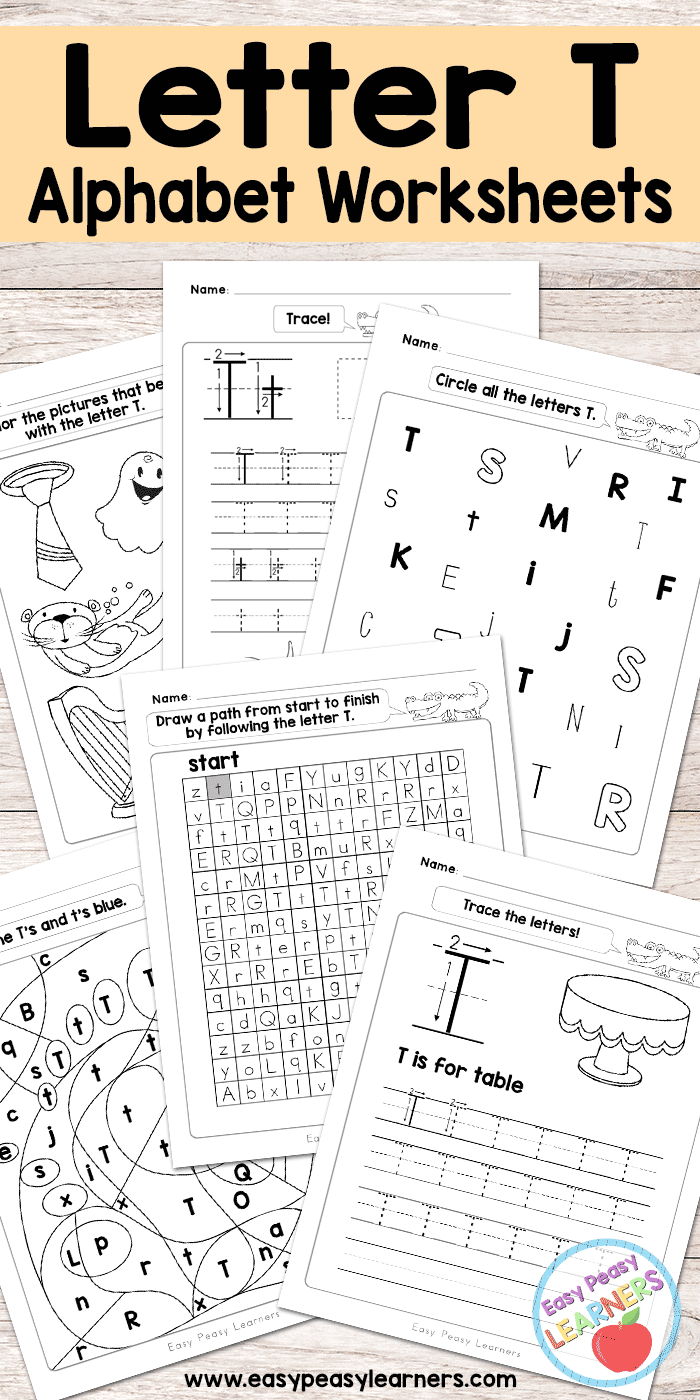 Letter T Worksheets - Alphabet Series | Preschool Letters for Alphabet Worksheets Free