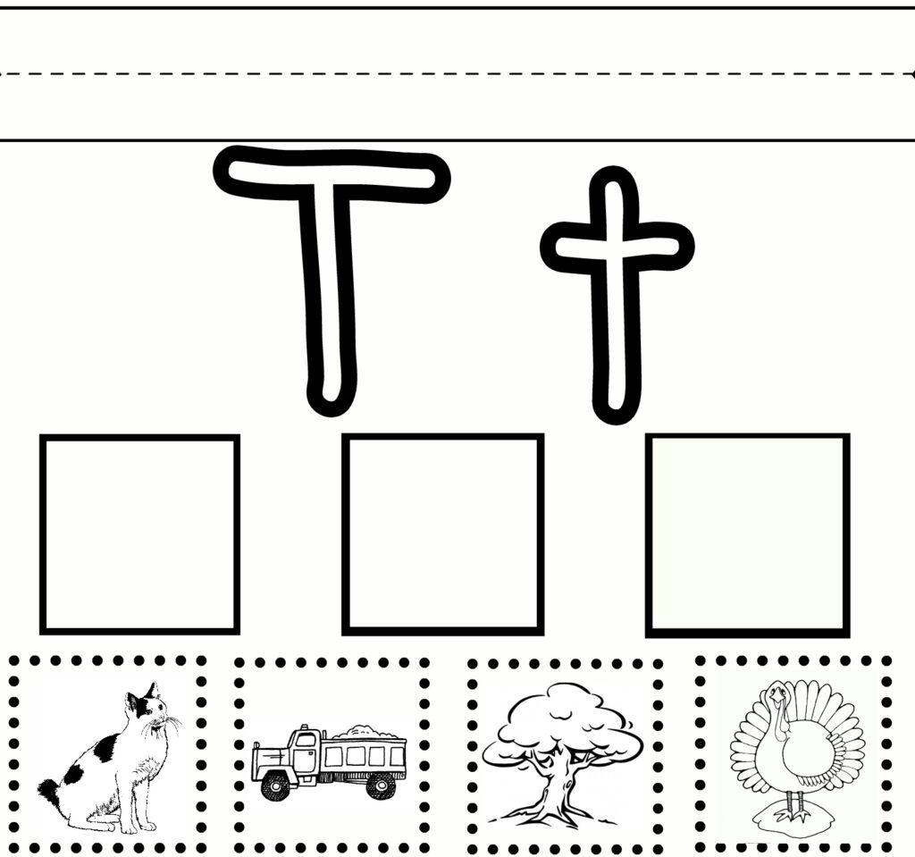 Letter T Worksheets For First Grade   Alphabetworksheetsfree In Letter T Worksheets Free