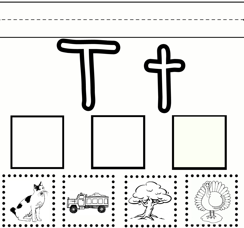 Letter T Worksheets For First Grade | Alphabetworksheetsfree in Letter T Worksheets Free