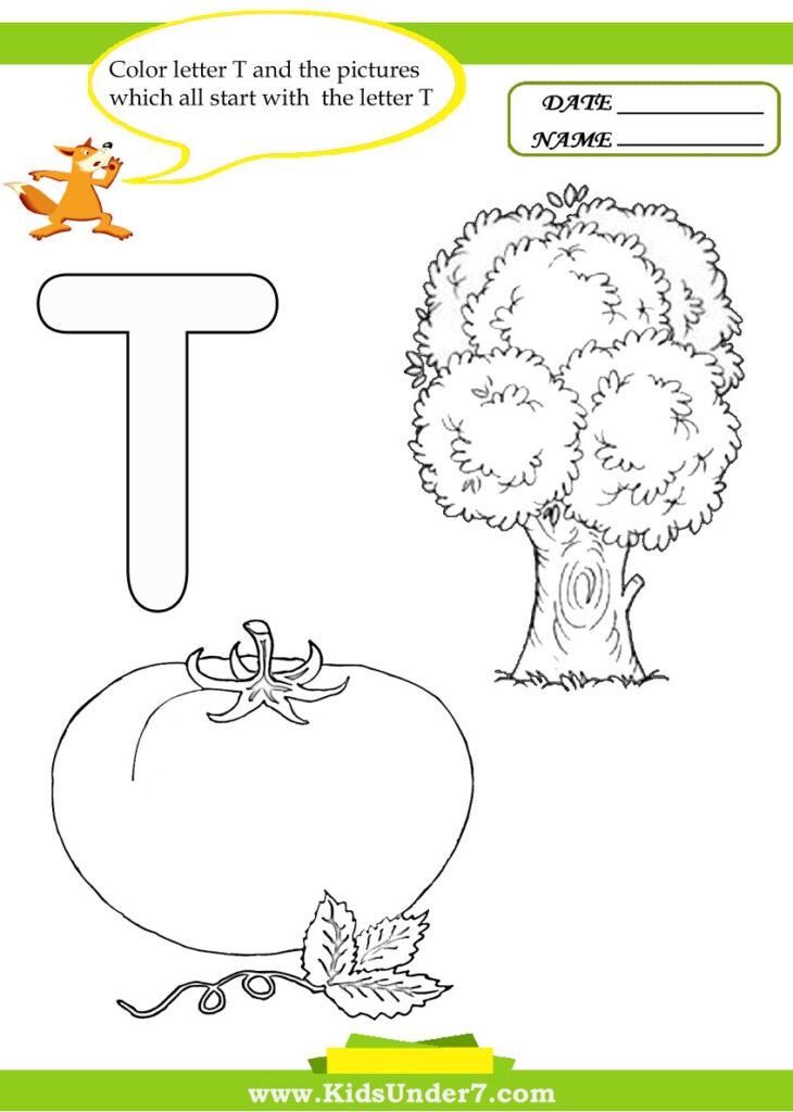 Letter T Worksheets Kindergarten & Letter T Worksheets Intended For Letter T Worksheets Sparklebox