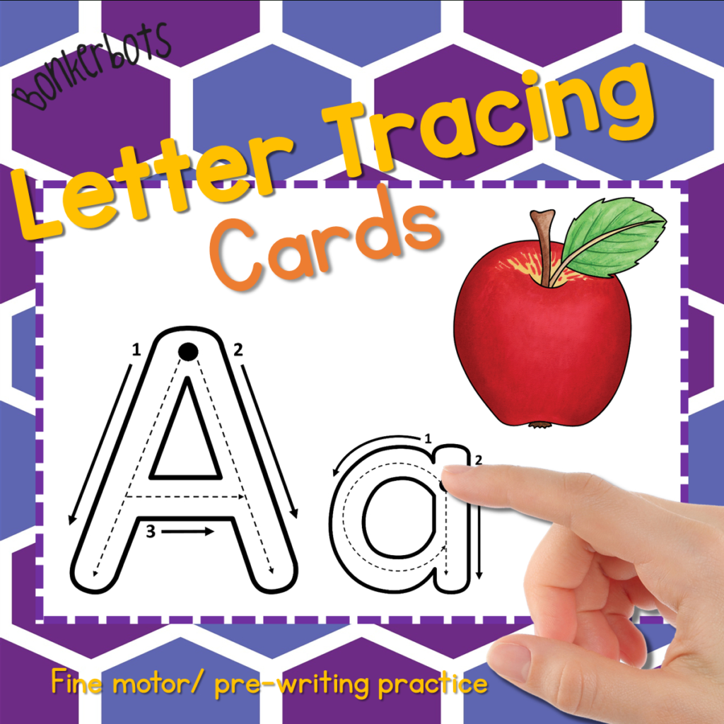 Letter Tracing Cards   Bonkerbots With Regard To Alphabet Tracing Cards