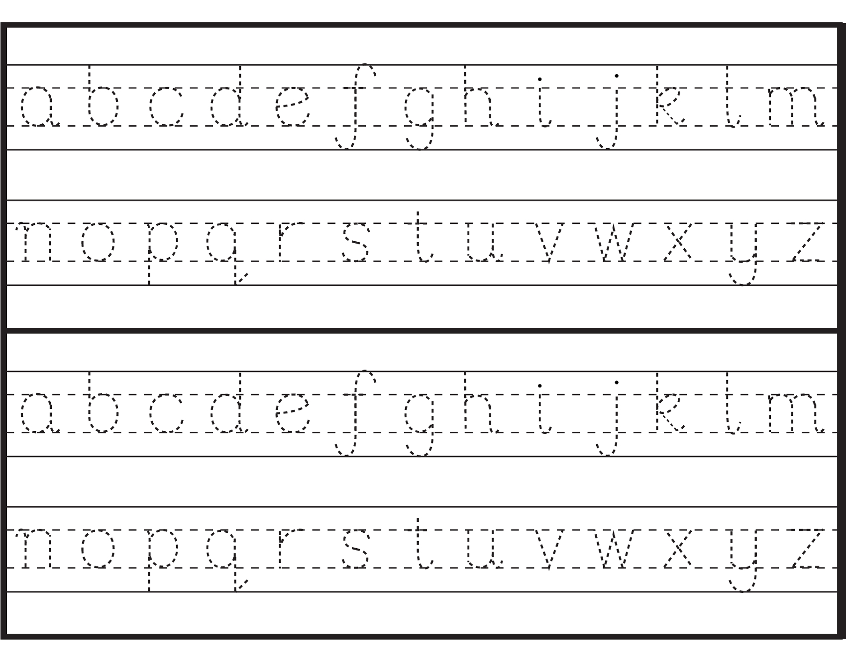 Letter Tracing Sheets Printable | Activity Shelter intended for Alphabet Tracing Sheets Printable