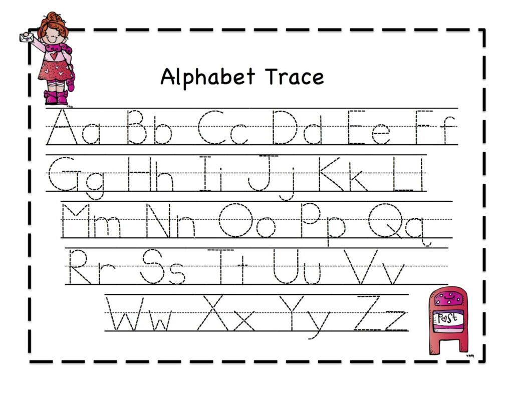 Letter Tracing Sheets Printable   Activity Shelter Throughout Alphabet Tracing Activities For Preschoolers