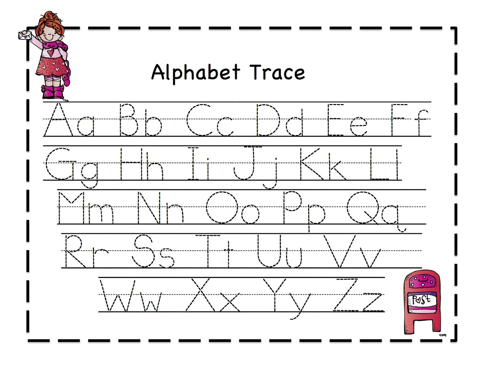Letter Tracing Sheets Printable | Activity Shelter throughout Alphabet Tracing Activities For Preschoolers