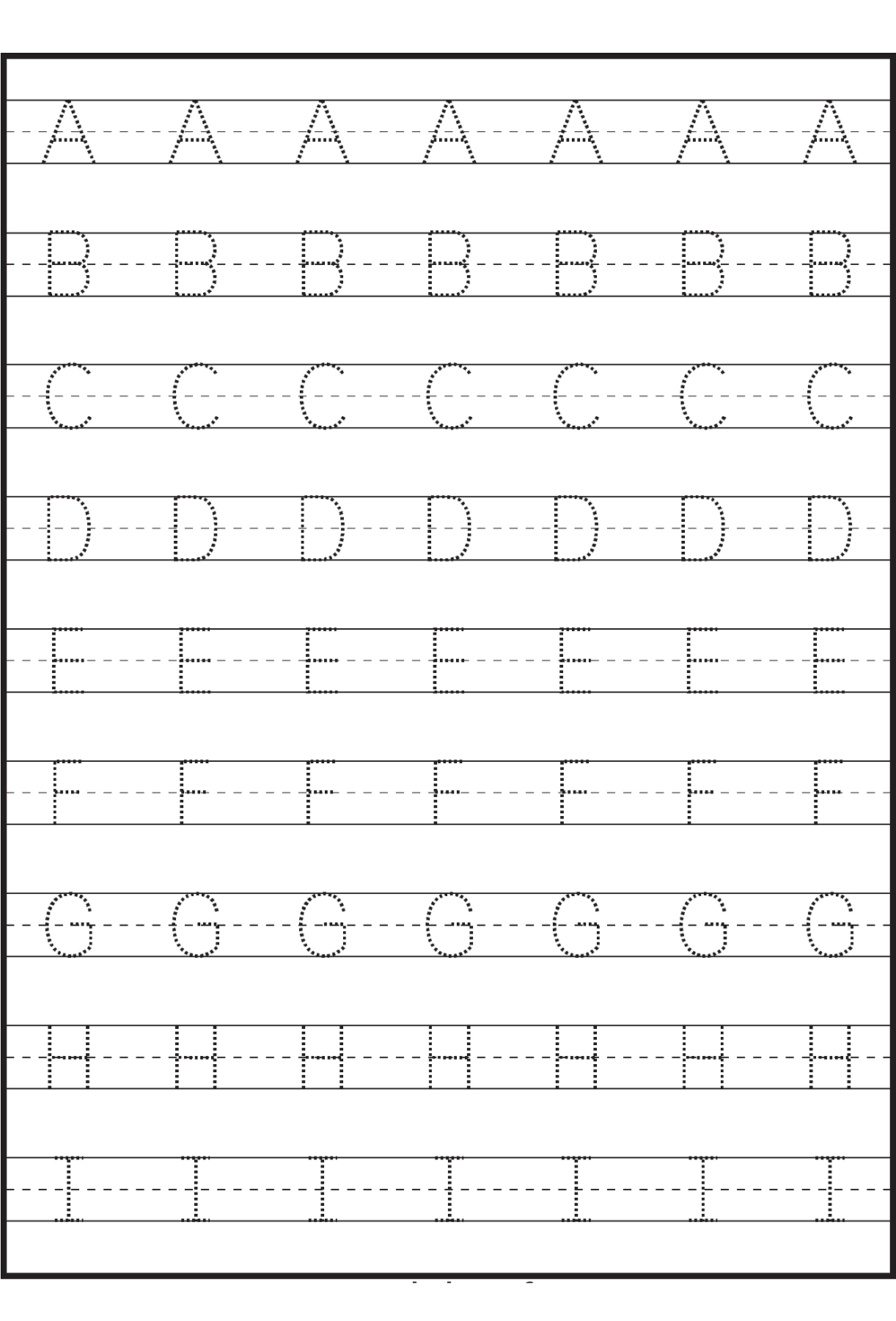 Letter Tracing Sheets Printable | Letter Tracing Worksheets with regard to Alphabet Tracing Sheets Printable