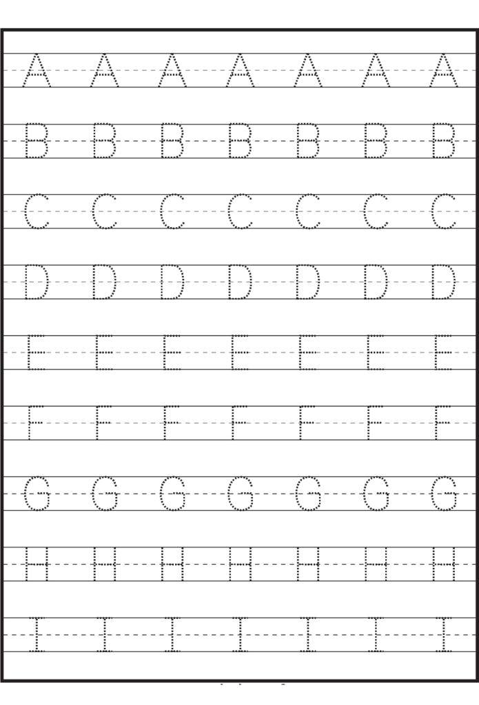 Letter Tracing Sheets Printable | Letter Tracing Worksheets With Regard To Letter Tracing I