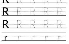 Alphabet R Tracing