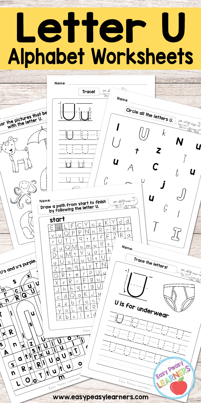 Letter U Worksheets - Alphabet Series - Easy Peasy Learners regarding Letter Id Worksheets