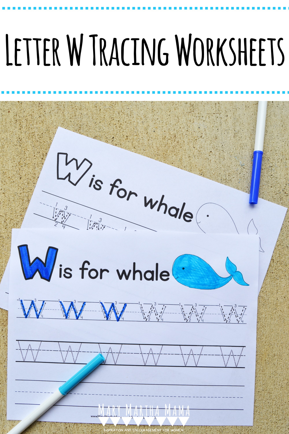 Letter W Tracing Worksheets – Mary Martha Mama within Letter W Tracing Paper