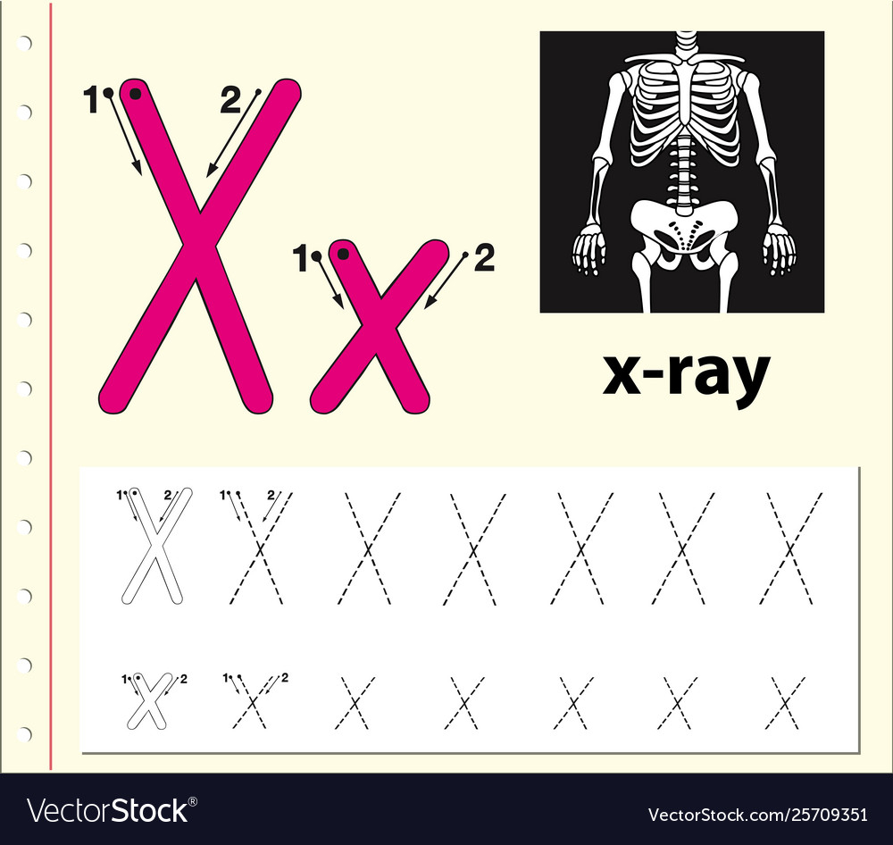 Letter X Tracing Alphabet Worksheets intended for Letter X Tracing Sheet