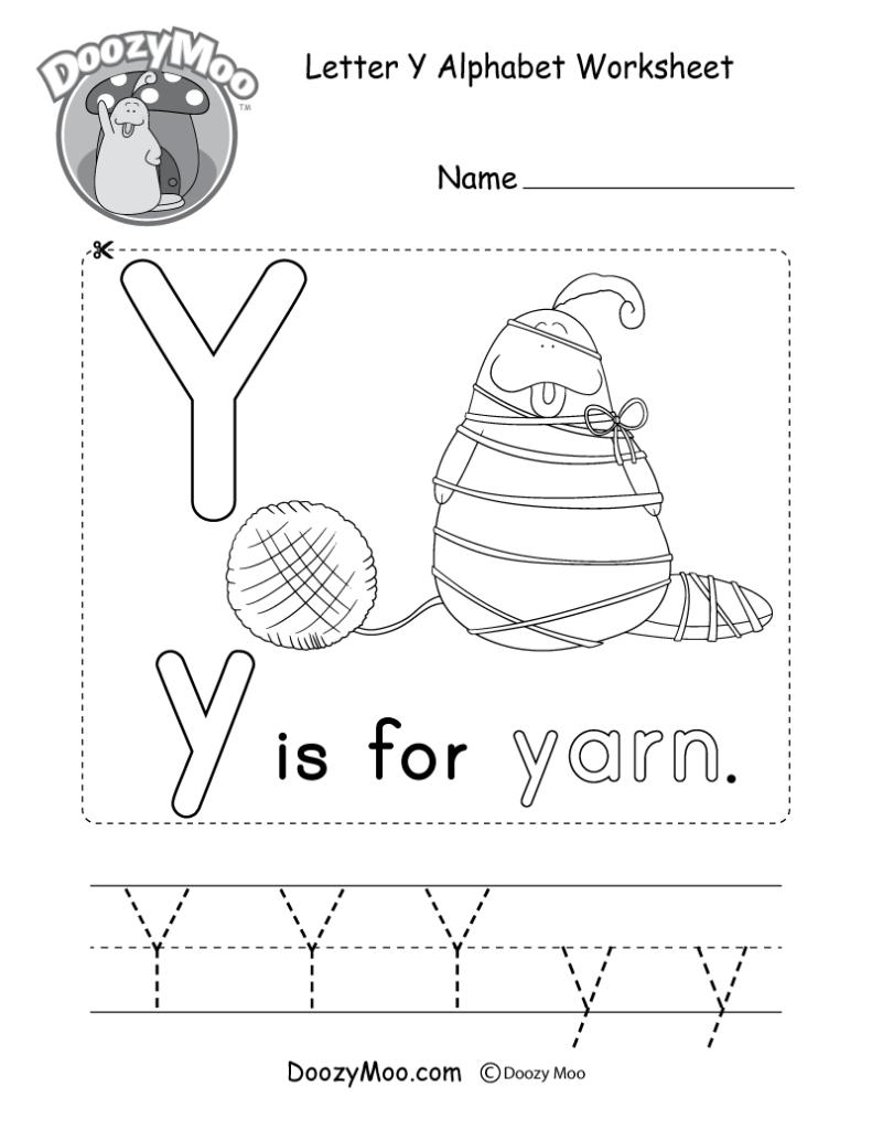 Letter Y Alphabet Activity Worksheet   Doozy Moo Inside Letter Y Worksheets Printable