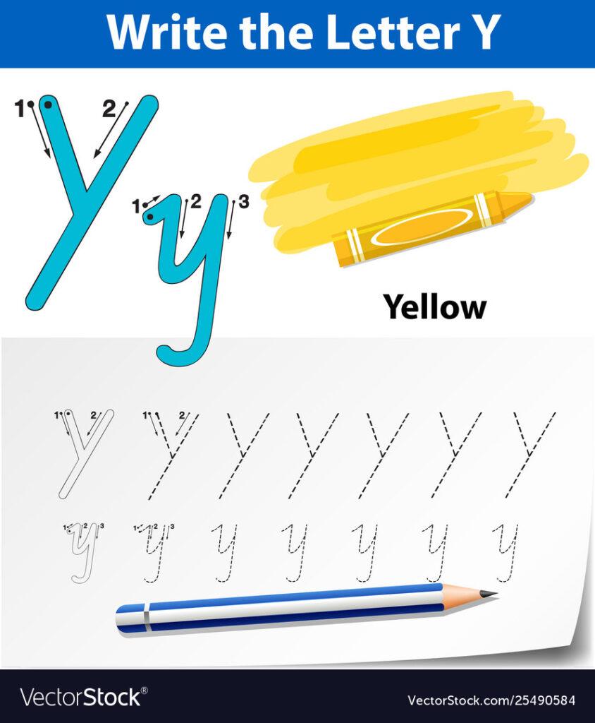 Letter Y Tracing Alphabet Worksheets Inside Letter Tracing Y