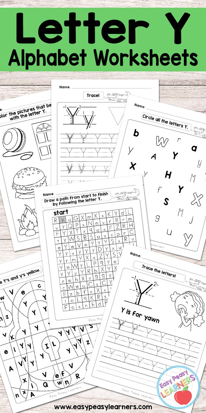 Letter Y Worksheets - Alphabet Series - Easy Peasy Learners regarding Letter Y Worksheets Printable