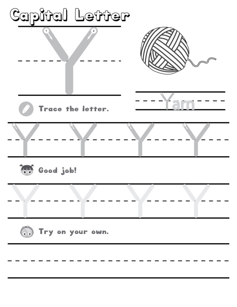 Letter Y Worksheets | Printable Worksheets And Activities For Letter Y Tracing Worksheets Preschool